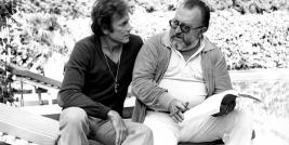 Anthony Sttefen com o cineasta Sergio Leone no Set de filmagens do filme SODOMA E GOMORRA.